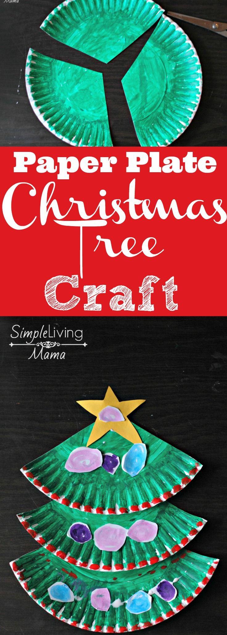 paper plate christmas tree craft weihnachten kita und. Black Bedroom Furniture Sets. Home Design Ideas