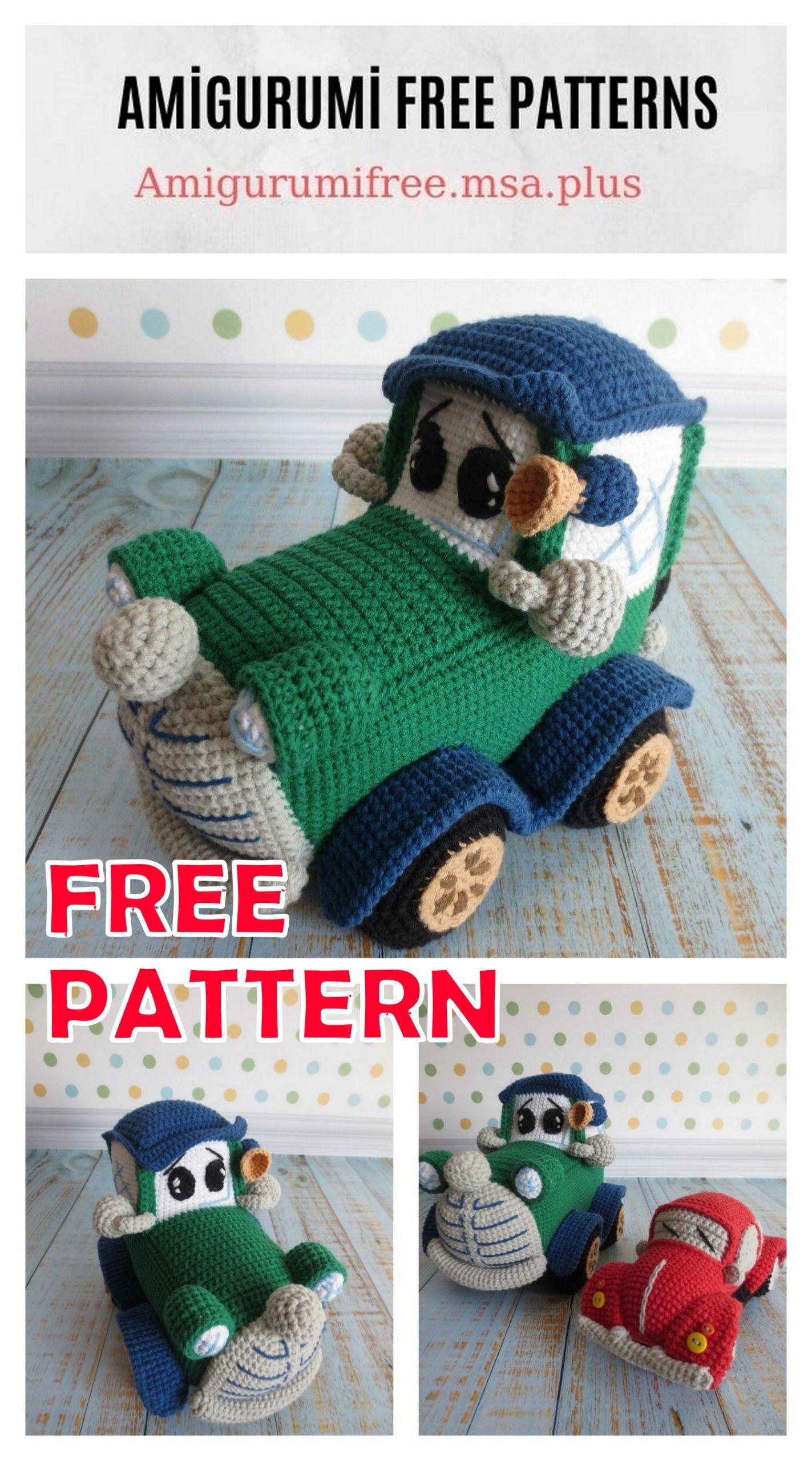 Amigurumi Classic Car Free Crochet Pattern