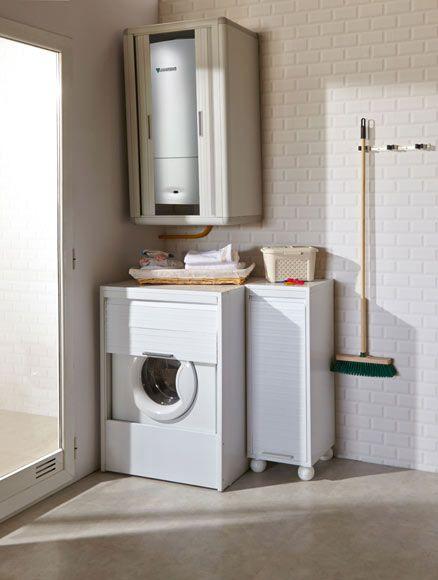 Armario de lavander a para lavadora fabricado en resina for Armario para lavadora
