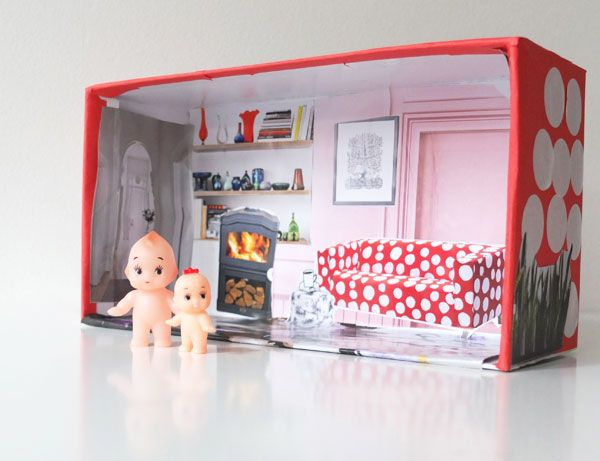 Kids Craft Shoe Box Doll House Shoe Box Crafts Recycled Crafts