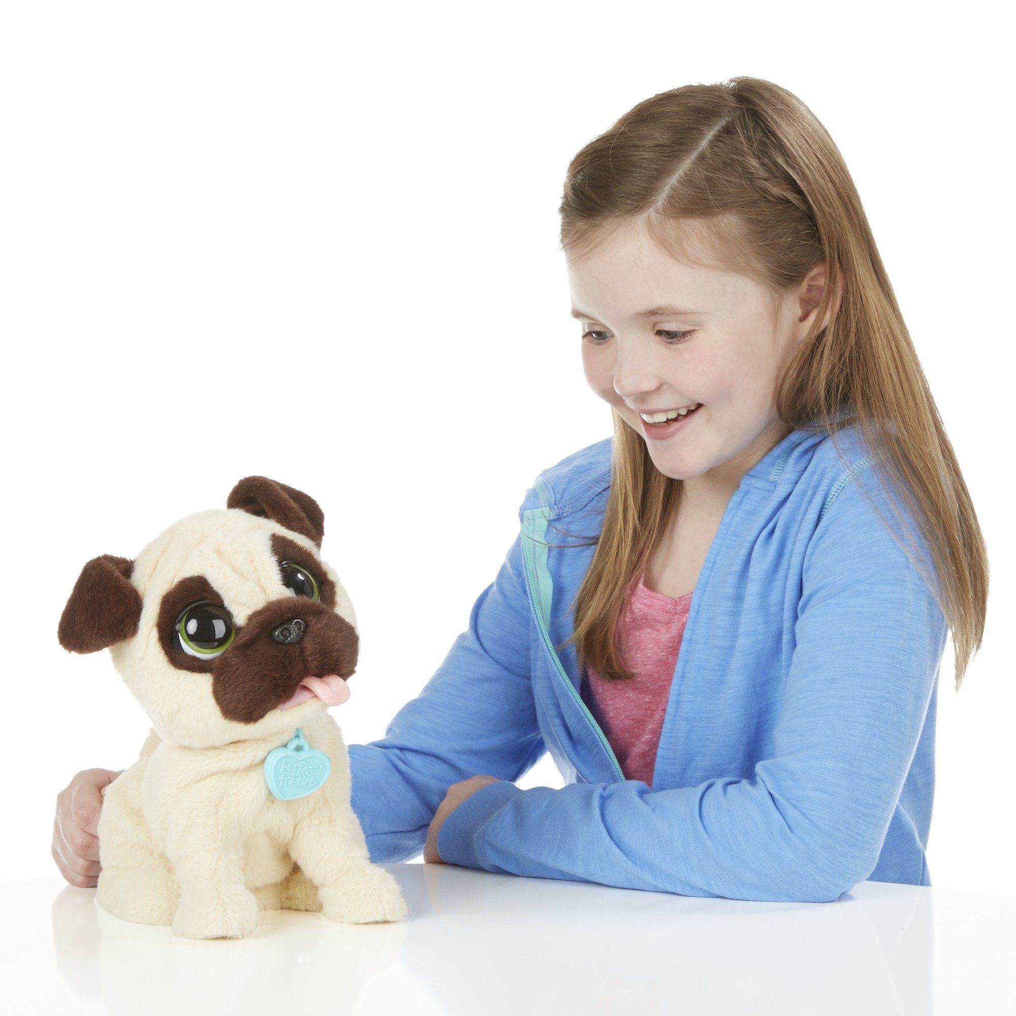 Amazon Com Furreal Friends Jj My Jumpin Pug Pet Plush Toys Games Fur Real Friends Jumping Dog Pugs