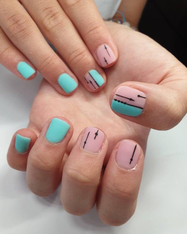 #nails #summernails #2020nails #naillove #nailstyle #mattnails #gellacknails