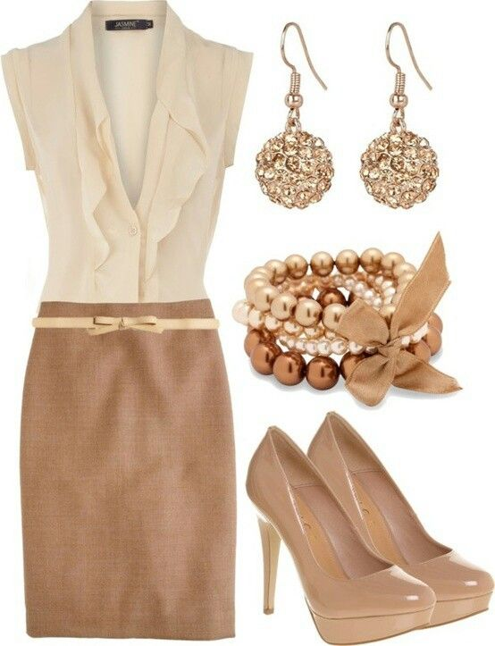 097c030334 Beige Brown Gold Outfit - this is so Danyelle Boyer!