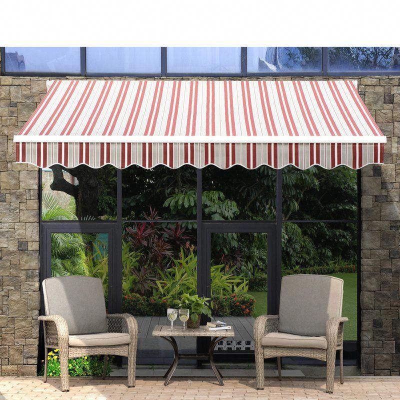 Sunjoy Classic 10 ft. W x 9 ft. D Patio Awning Wayfair