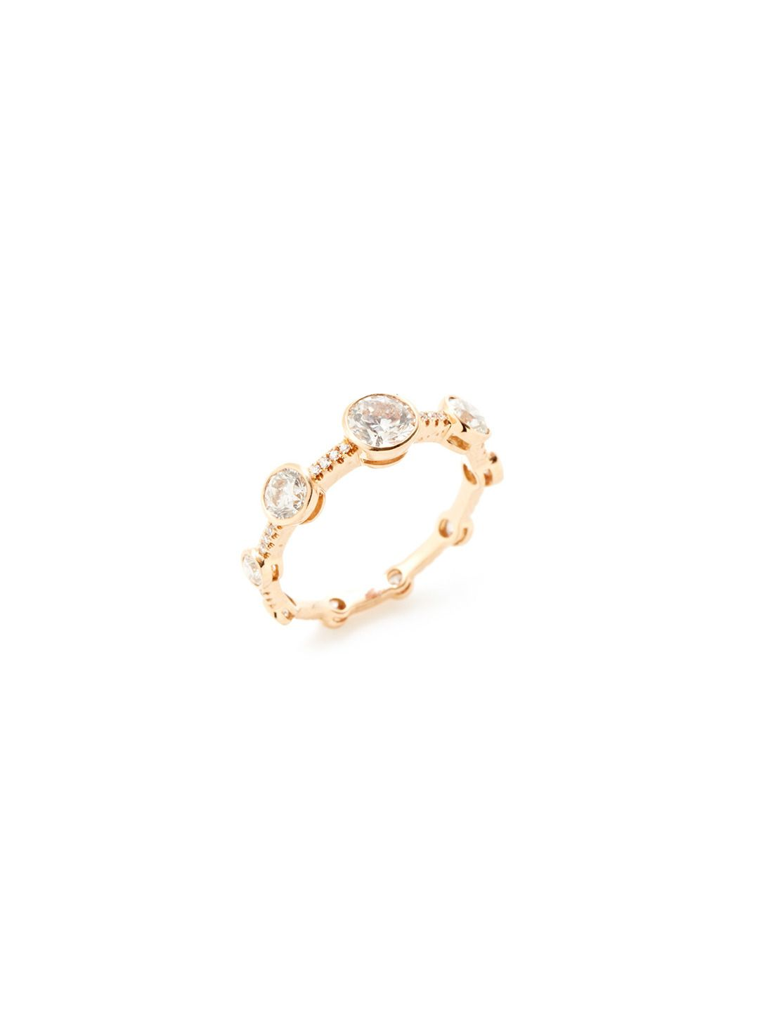 Rose Gold Diamond Graduated Station Ring by Odelia Jewelry at Gilt