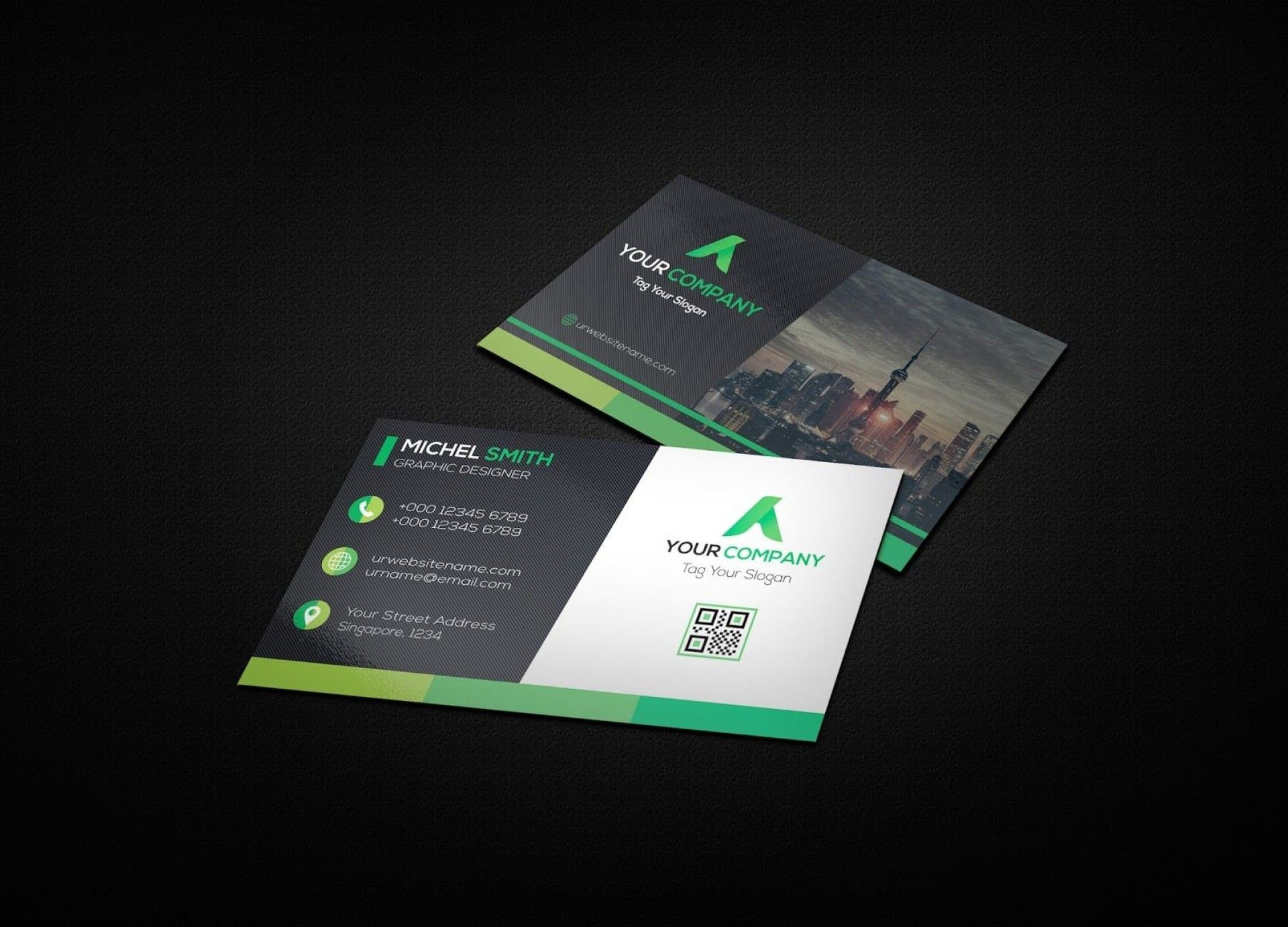 Download New 8 5 X 11 Business Card Template Can Save At New 8 5 X 11 Business Card Template Lette Business Card Mock Up Cool Business Cards Business Card Psd