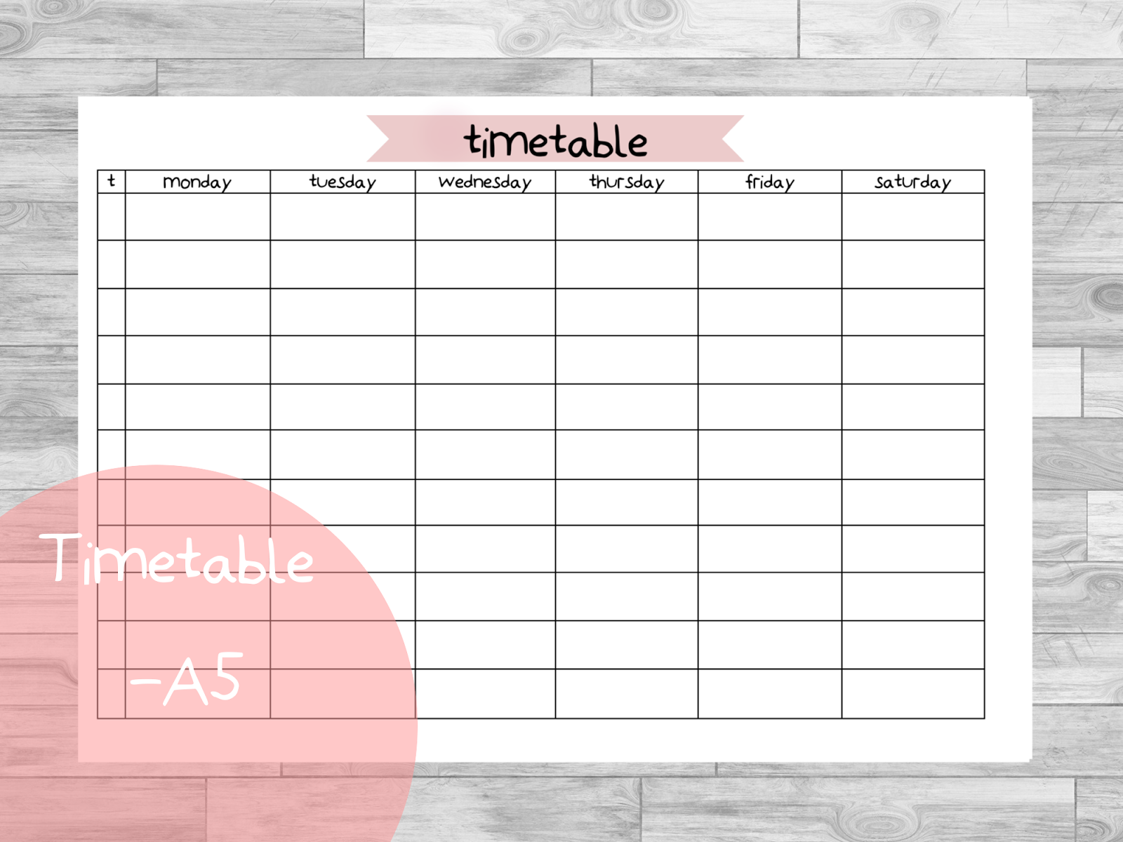 Free Planner Printables | fits Leuchtturm large | Timetable ...