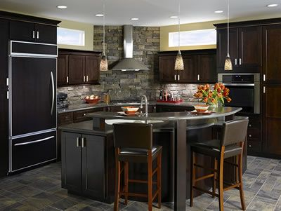 Kitchen example displaying the Armstrong cabinet style ...