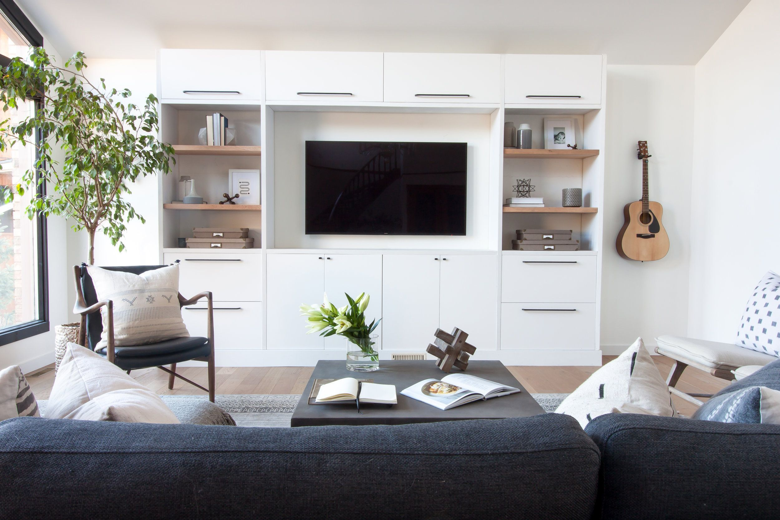 Decor Space Custom Ikea Built In Tv Unit With Wood