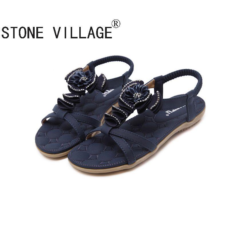 559ae08e40eb Plus Size 35-41 Summer Sandals Bling Rhinestone Flats Women Platform Wedges  Sandals Fashion Flip Flops Comfortable Shoes Woman