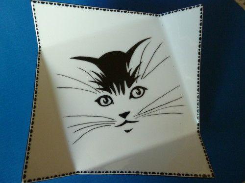 Peinture sur porcelaine motifs gratuits pesquisa google - Chats gratuits ...