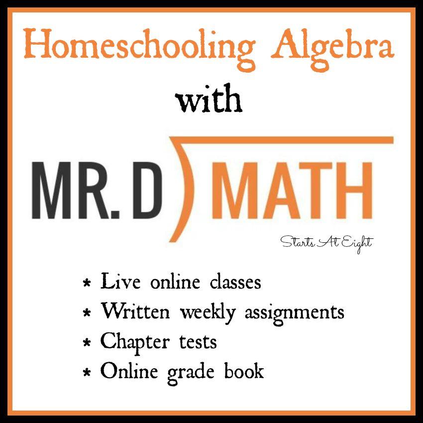 Homeschooling Algebra With Mr. D Math | Online math courses, Math ...