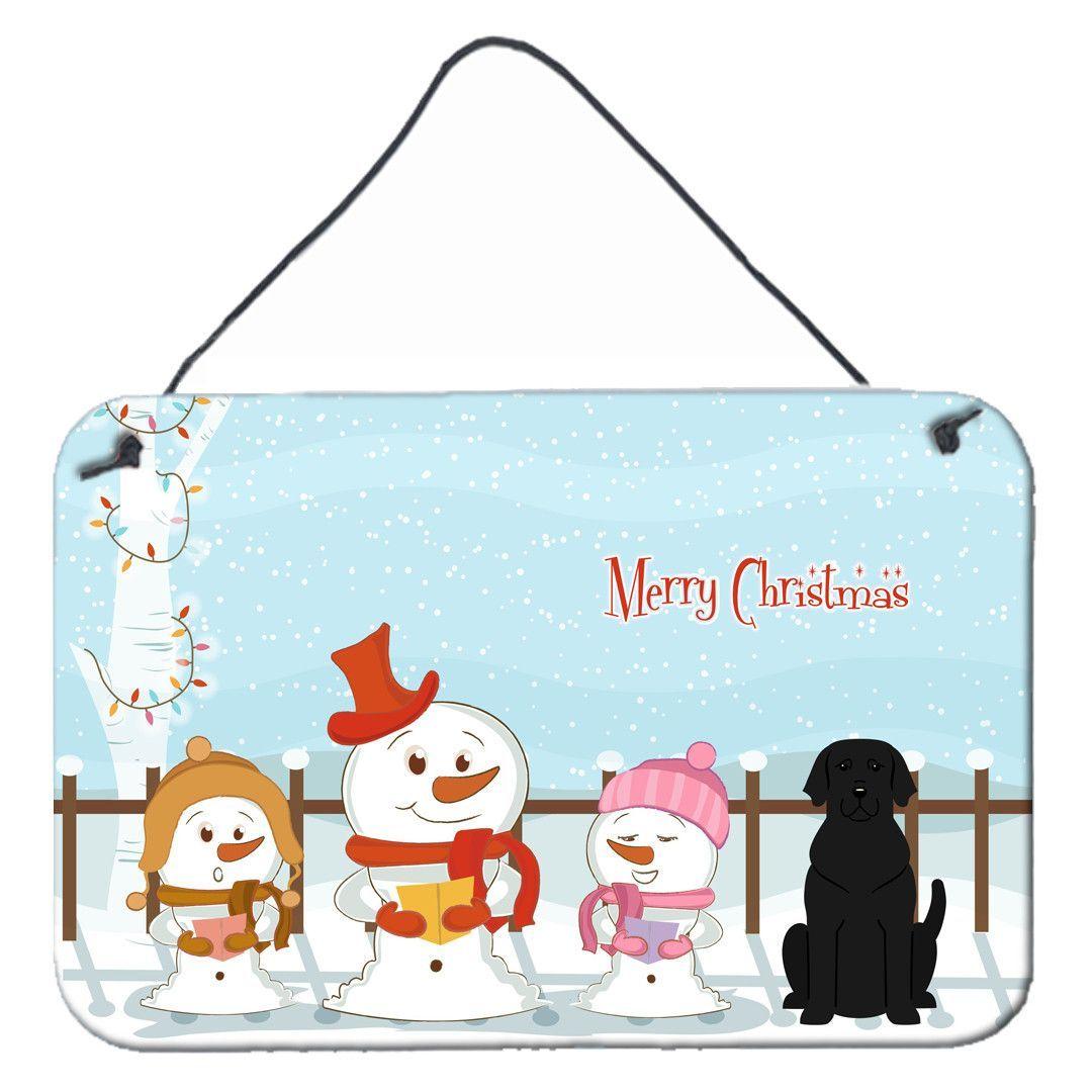 Merry Christmas Carolers Black Labrador Wall or Door Hanging Prints BB2388DS812