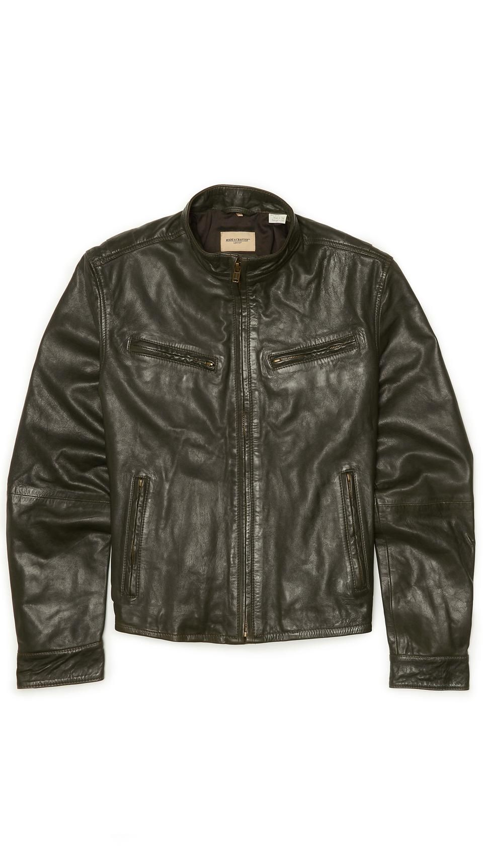 LEVI'S Made & Crafted Leather Biker Jacket mens leather