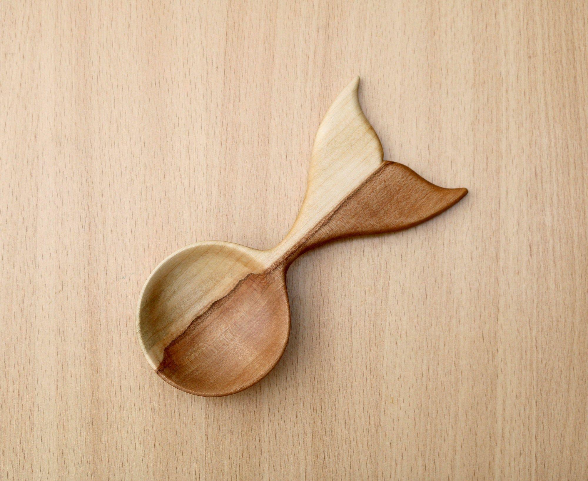 Handmade wood scoop Unique coffee scoop.