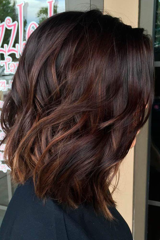 42 Chic Medium Length Layered Hair | Hair lengths, Hair color ...