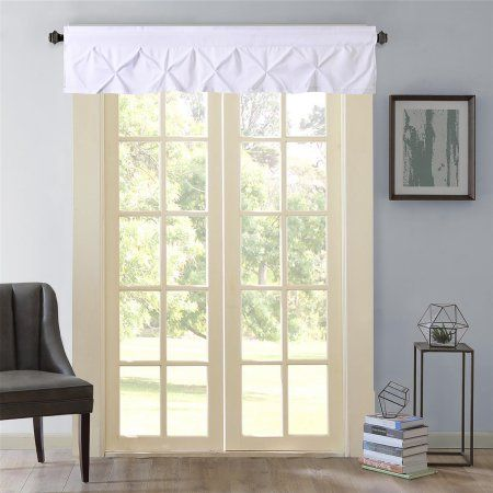 Hudson Pintuck Window Curtain Valance 12 Inchx60 Size 12 Inch