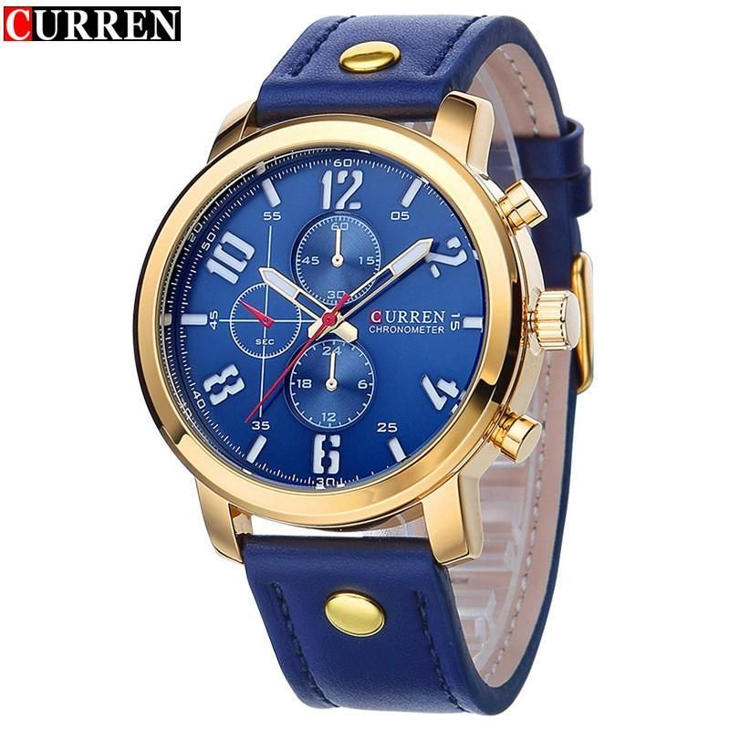 Watches Oulm Classic Golden Skeleton Mechanical Watch Men Genuine Leather Strap Top Brand Luxury Man Watch Vip Drop Shipping Wholesale