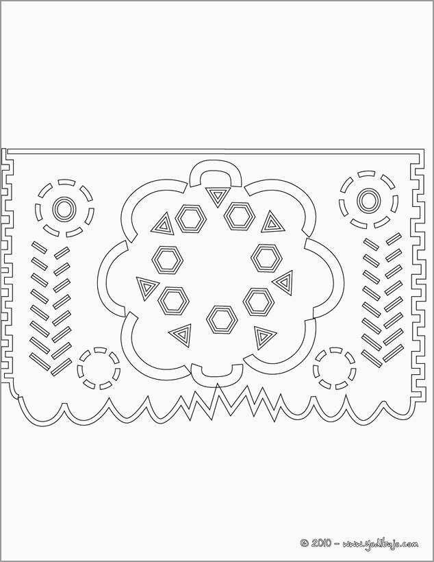 Free Printable Papel Picado Template Lovely Dibujos Para