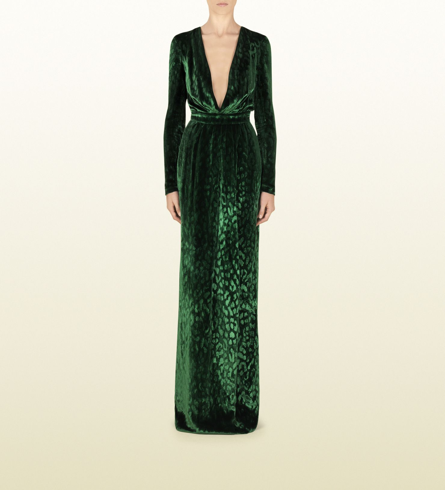Gucci velvet deep v-neck gown | Beautiful Dresses | Pinterest