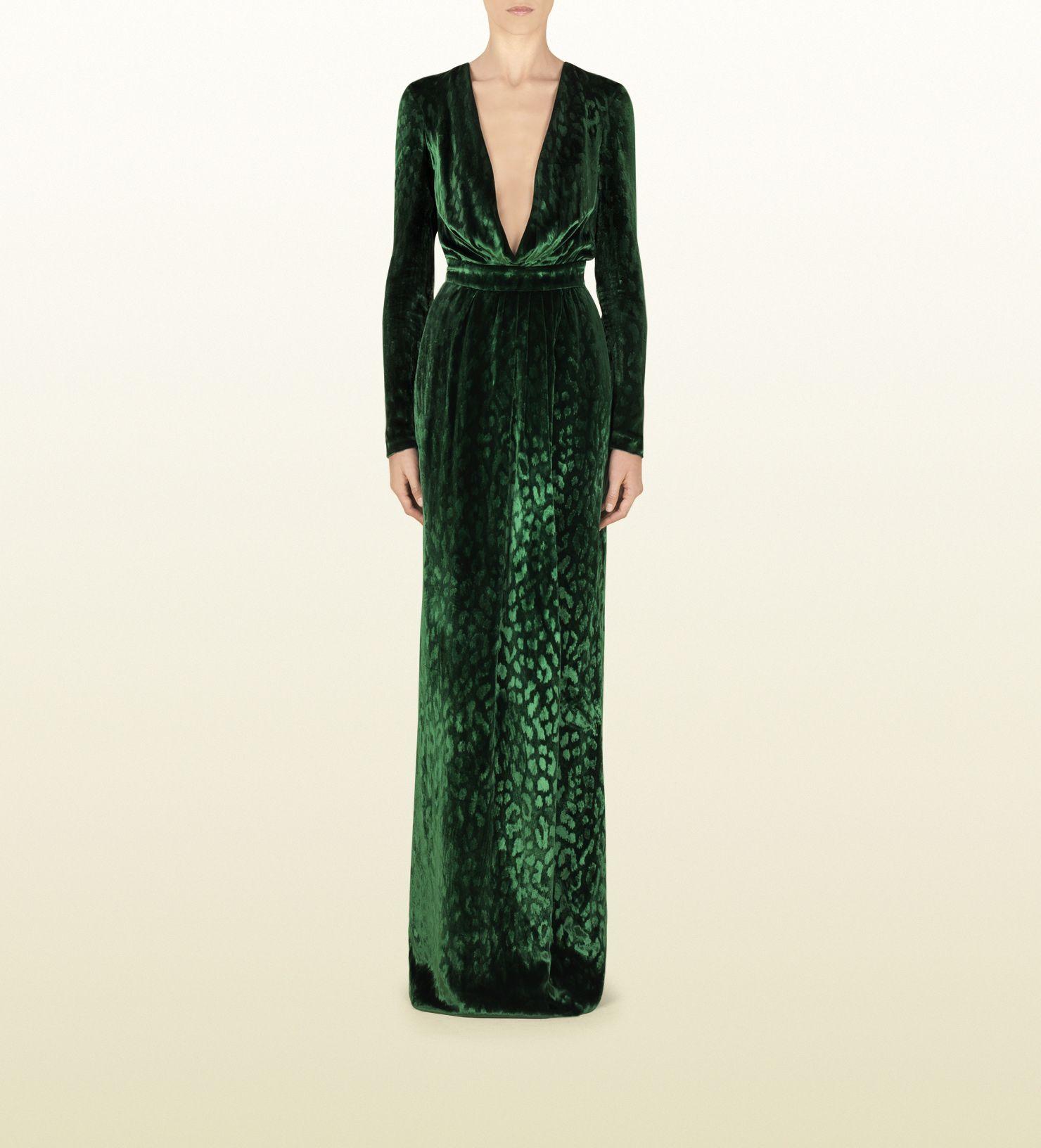 55ec32249 Gucci velvet deep v-neck gown | Beautiful Dresses | Gucci gown ...