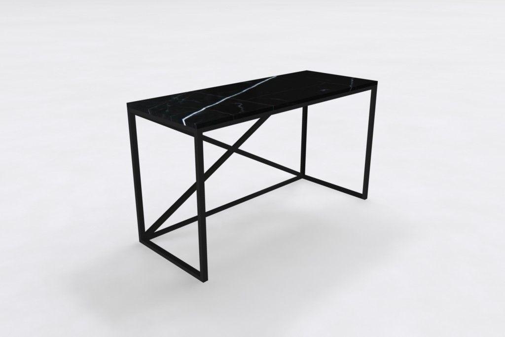 Belgium Black Marble Hall Table | Custom Made Marble Furniture | Black Marble  Table