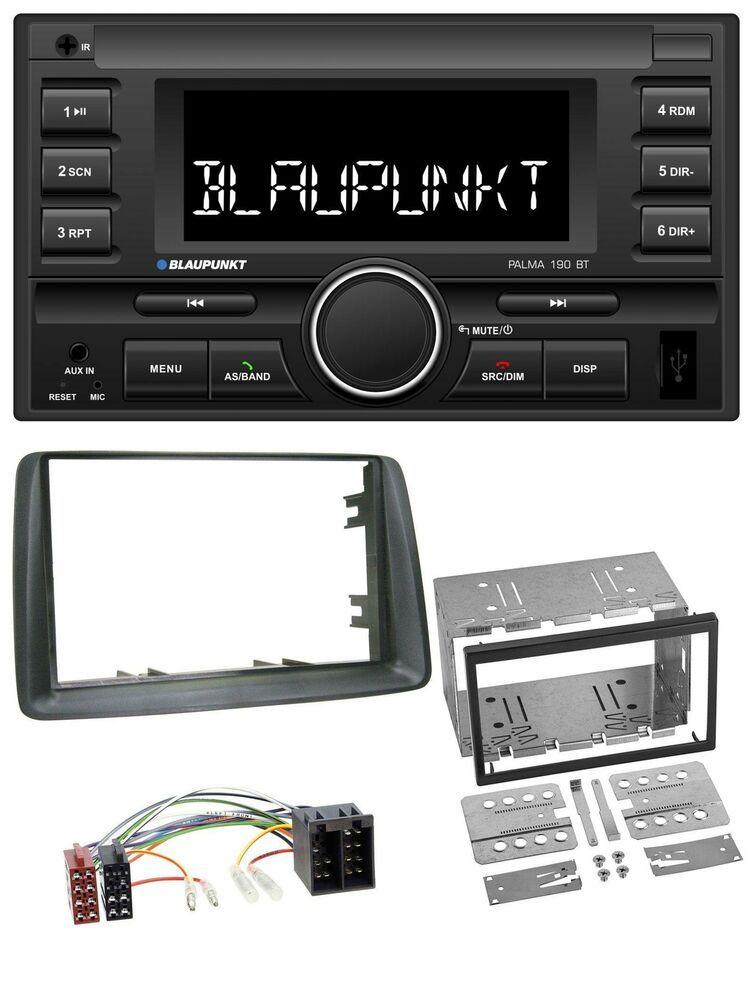 169 2003-2012 JVC MP3 Bluetooth USB AUX Autoradio für Fiat Panda grau