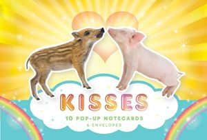 Kisses Briefpapier Set mit 10 Pop-up Karten und Couverts