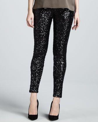 www.neimanmarcus.com-Elie Tahari-Roxanna Sequined Skinny Pants - small 4/6
