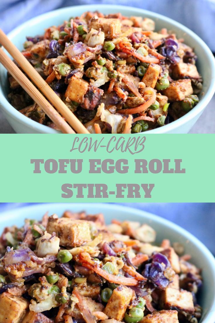LowCarb Tofu Egg Roll StirFry Recipe Foodista Food