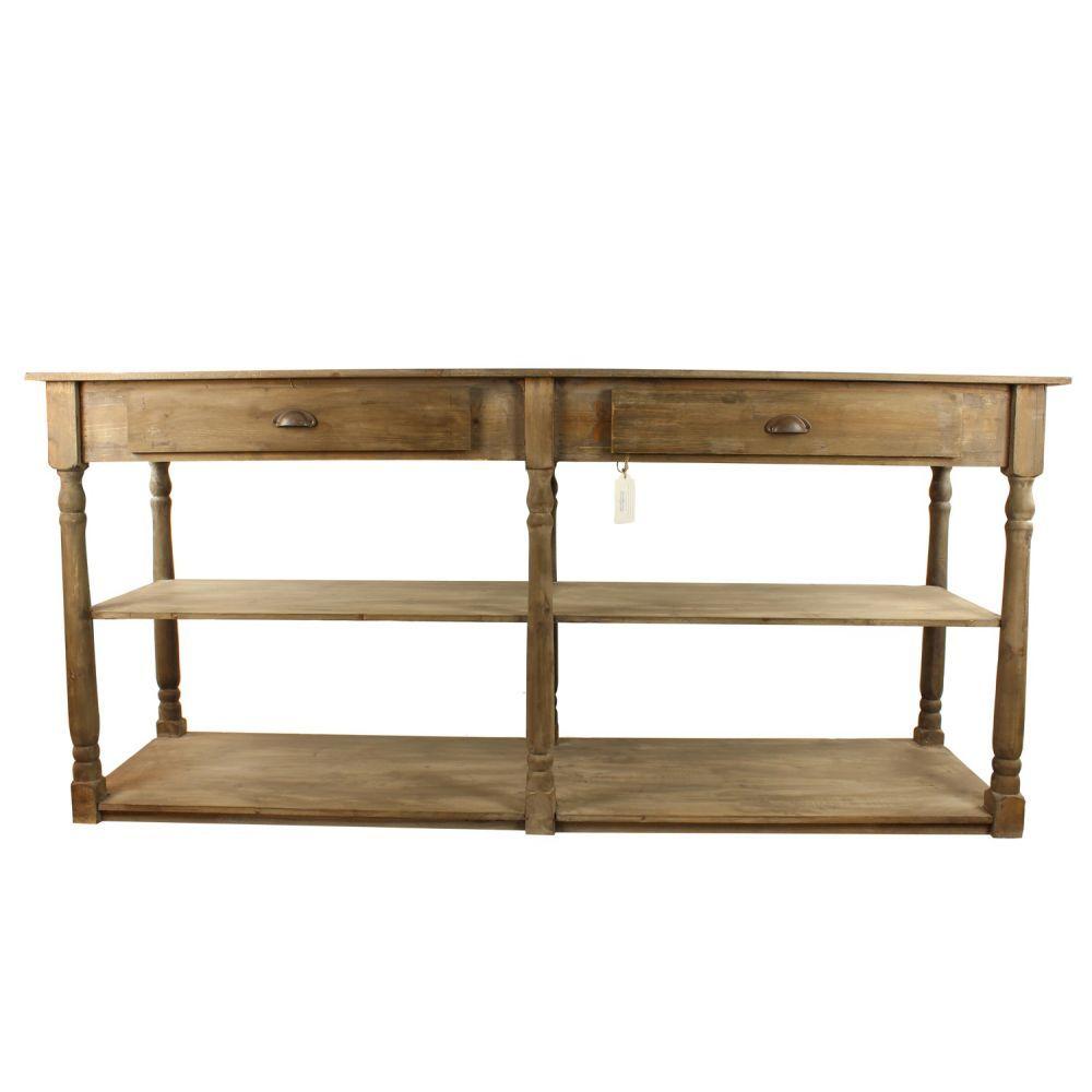 meuble console drapier bois 2 tiroirs 190x54x87cm drapiers pinterest tiroir meubles et bois. Black Bedroom Furniture Sets. Home Design Ideas