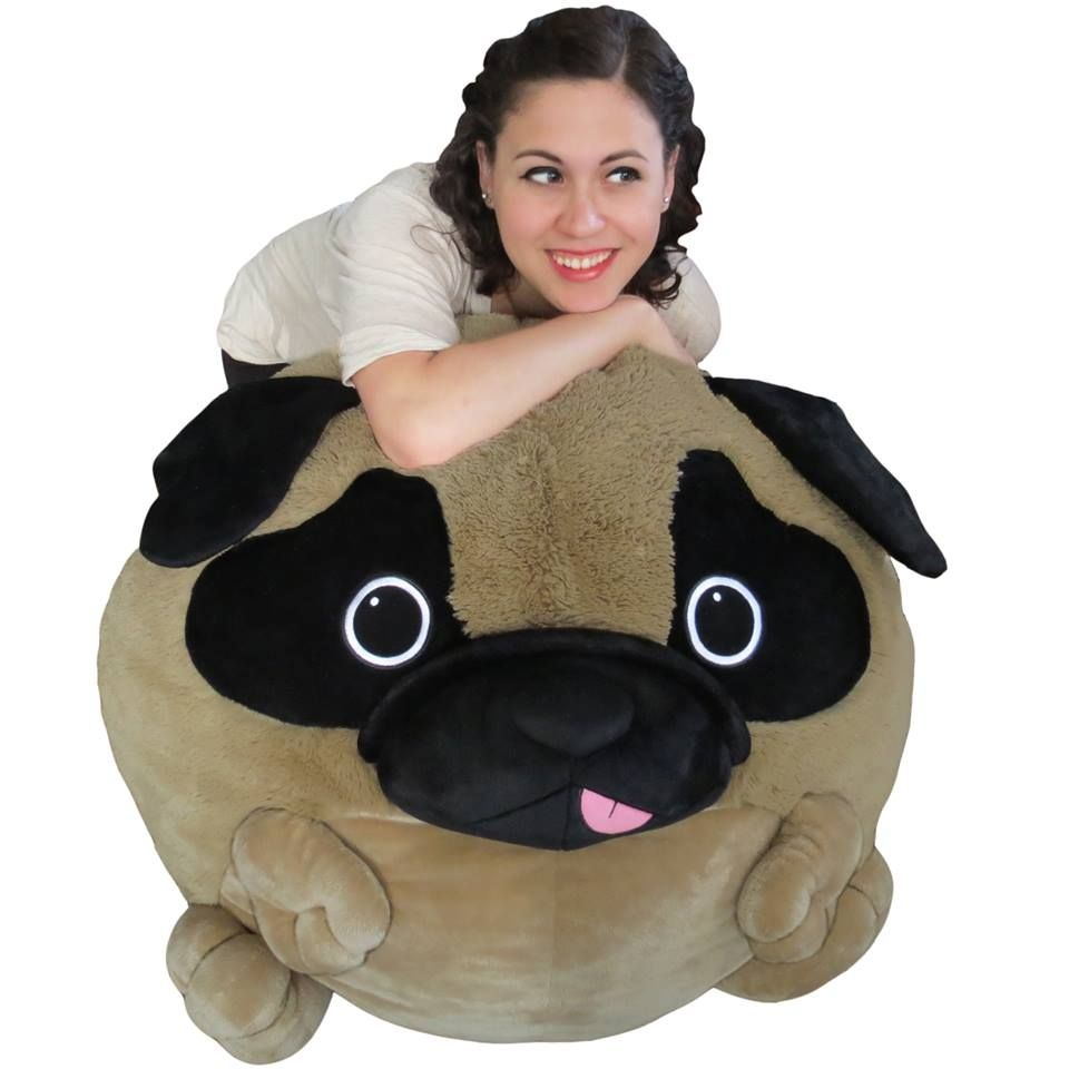 Massive Pug Bean Bag Squishable Pug Puppy Plush