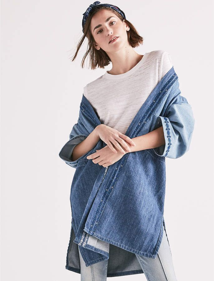 63b20d46c Panelled Kimono With Embroidery | Products | Kimono, Lucky brand ...