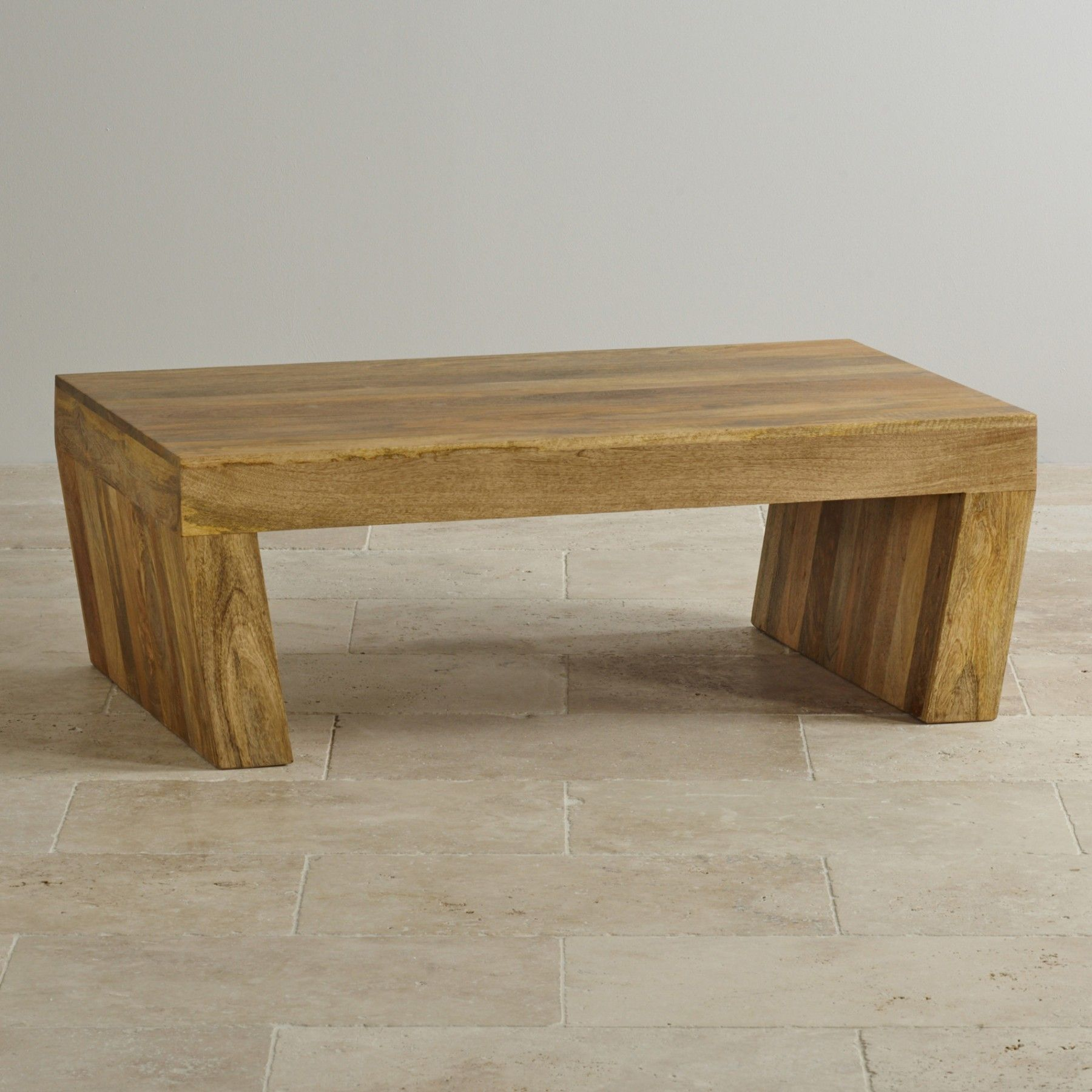 Mantis Light Natural Solid Mango Angled Coffee Table 265 Mango