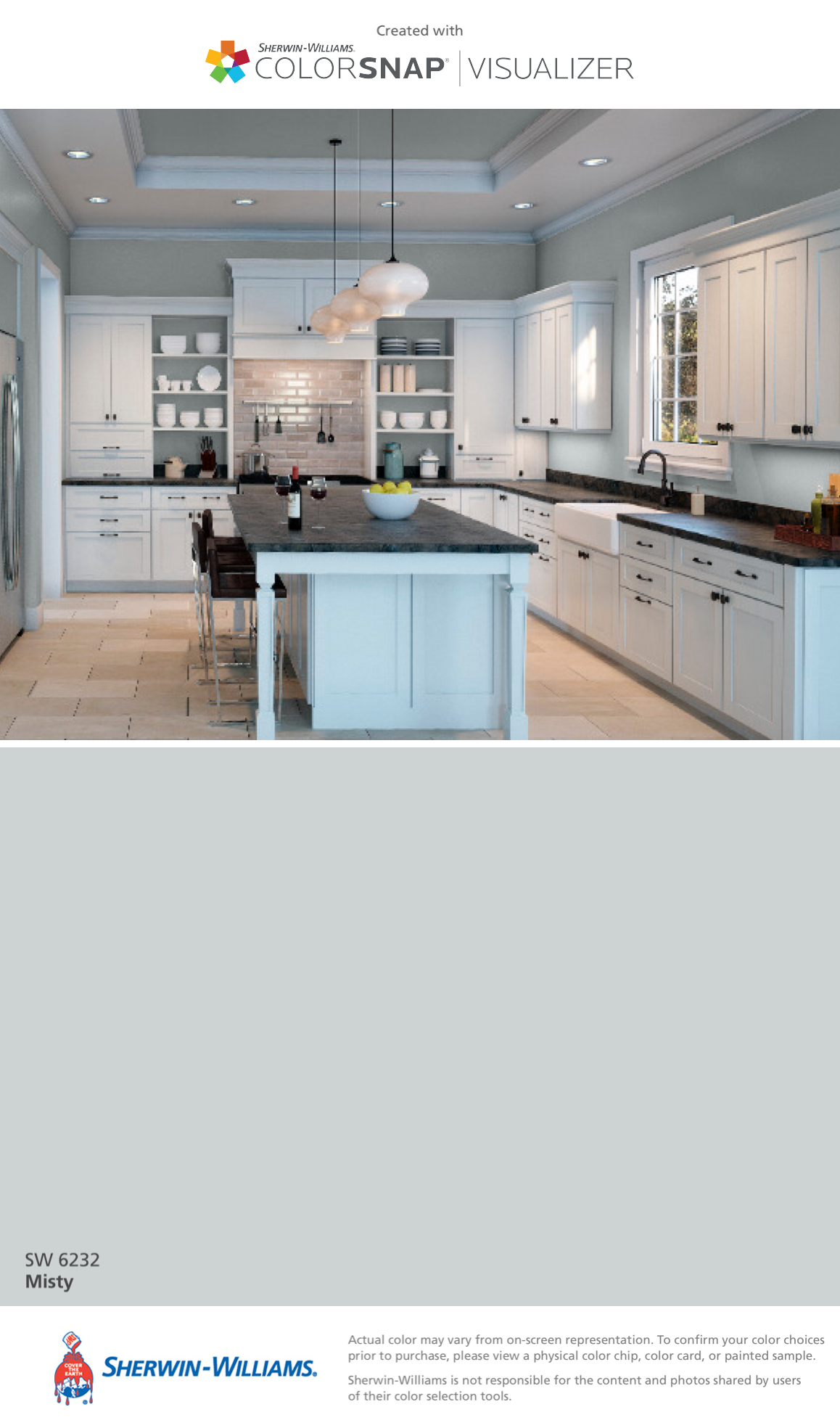 I Found This Color With Colorsnap Visualizer For Iphone By Sherwin Williams Misty Sw 6232