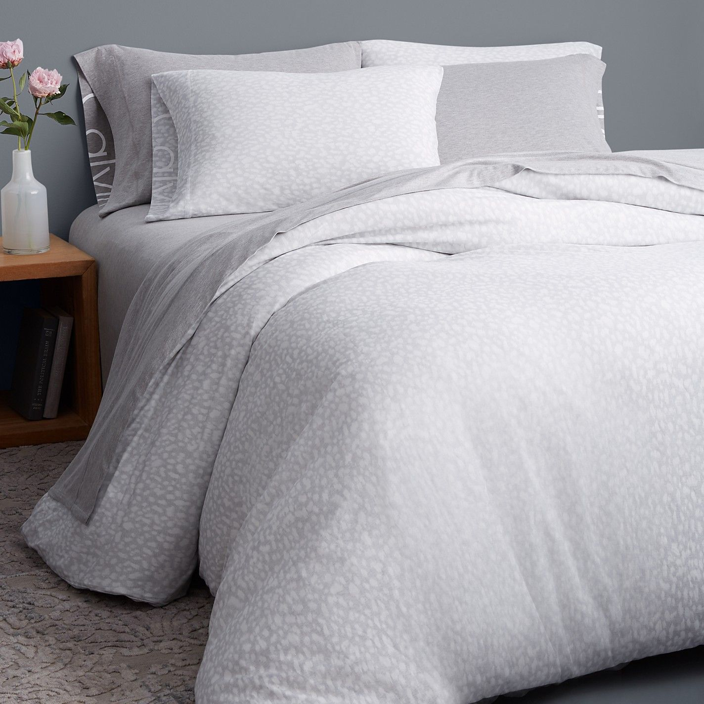 Inspired By Calvin Klein Underwear Prints This Soft Cotton And Modal Jersey Duvet Cover Features