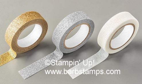 Choose the Metallics Glitter Tape when you place a $50 order during Sale-a-bration www.shoppingwithbarb.com
