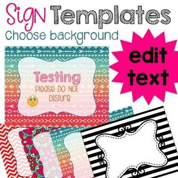 Create a sign templates to make your own classroom signs create a sign templates to make your own classroom signs powerpoint design toneelgroepblik Gallery