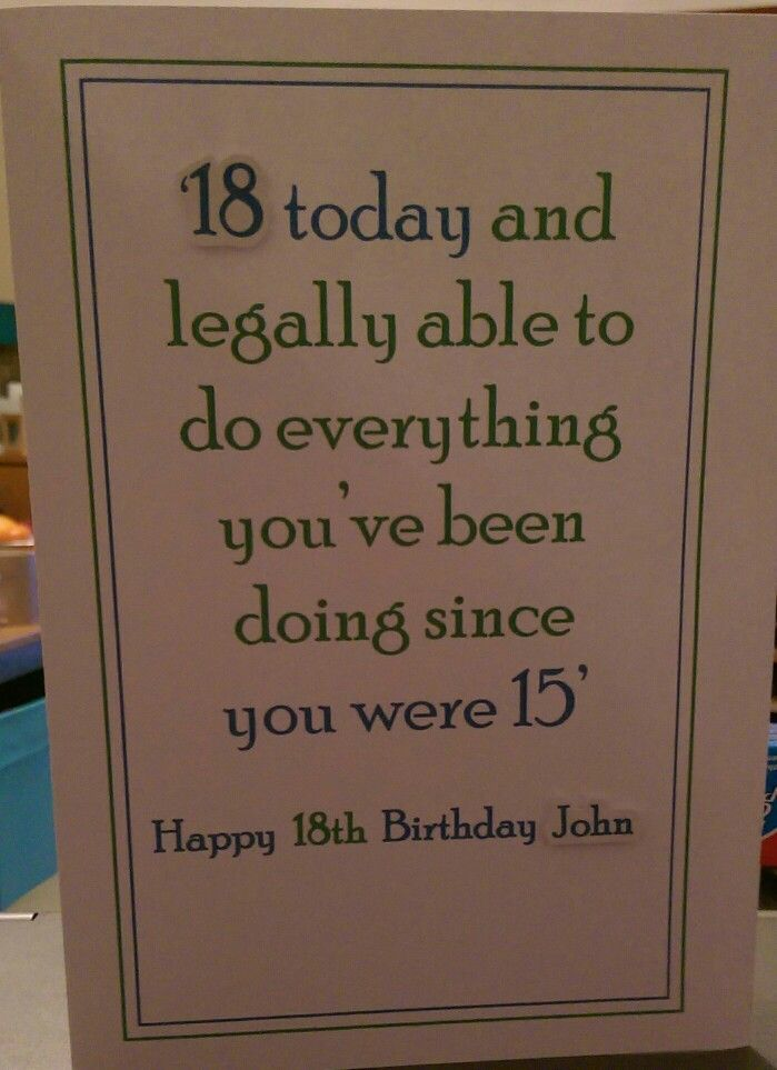 CARDS - Male 18th birthday card                                                                                                                                                                                 More