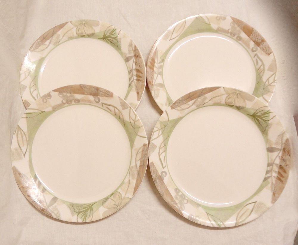 Lot / Set of 4 Corelle Textured Leaves 9\