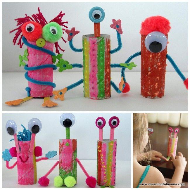 Crafts With Paper Towel Rolls For Preschoolers: Toilet Paper Roll Aliens