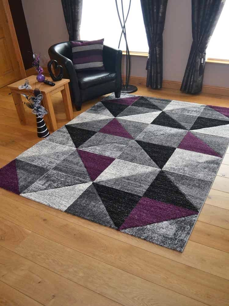 Contemporary Rug Runner Abstract Geometric Design Hand Carved 10mm Pile Ebay Vintage Carpet Geometric Pattern Rug Grey Carpet Living Room