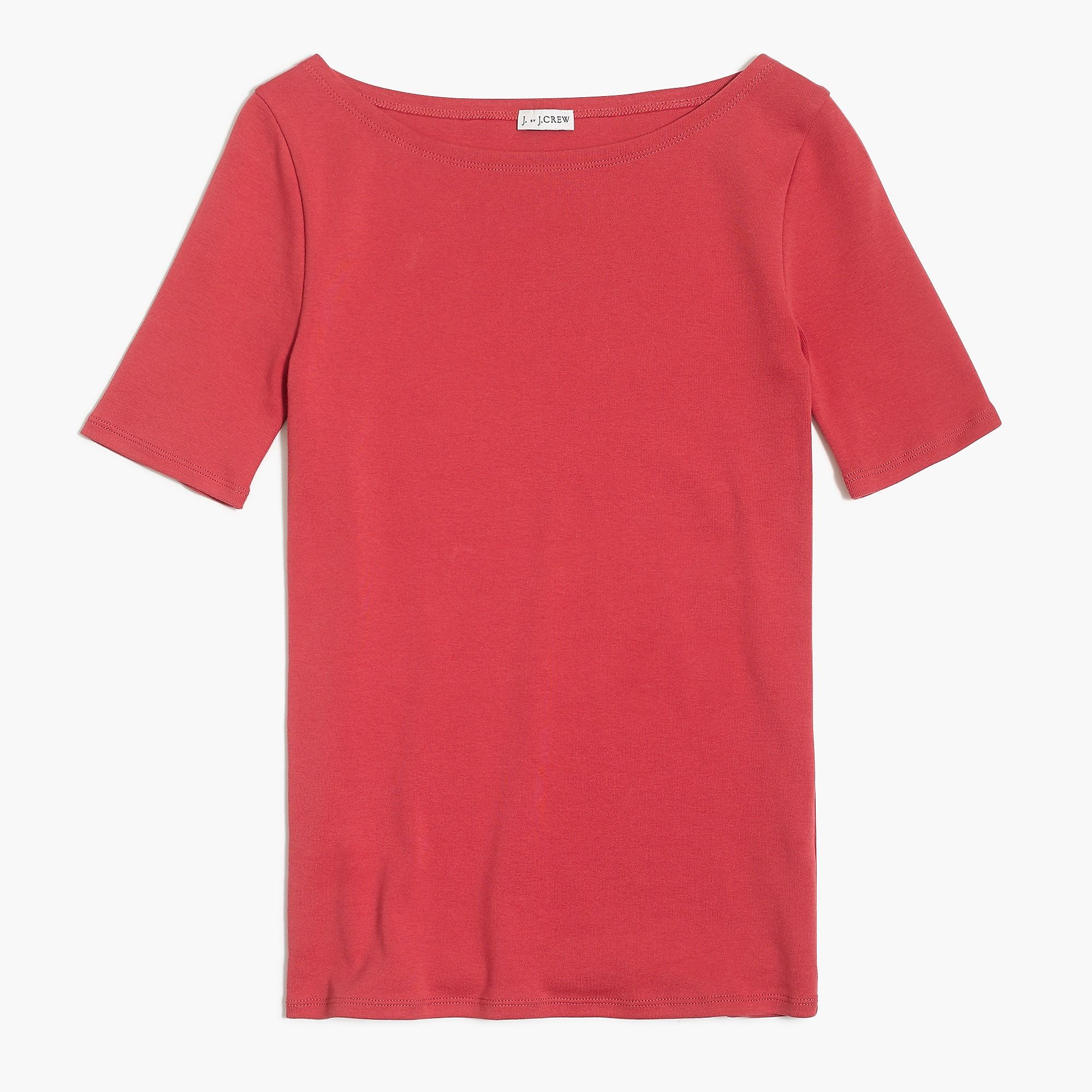 e53e7bdd Shop the Women's Perfect-Fit Open-Neck T-Shirt at J.Crew and see the entire  selection of Women's Knits. Free Shipping Available.