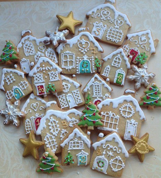 Uk Cookies O Little Town Christmas Flowers And Hamper Delivery