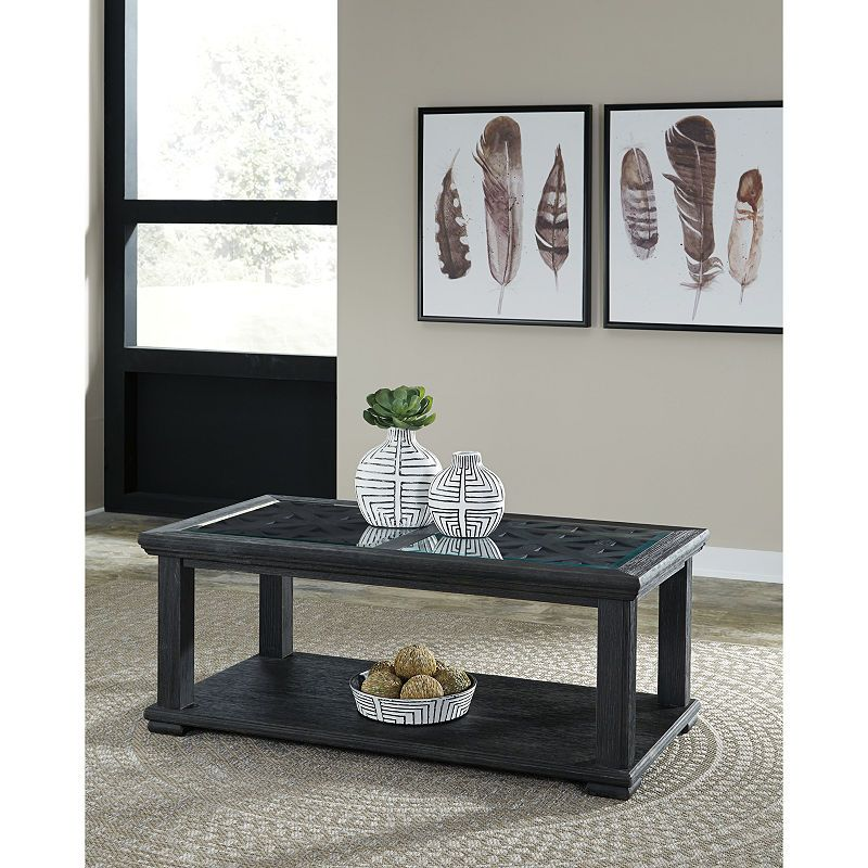 Signature Design By Ashley Tyler Creek Rectangular Cocktail Table