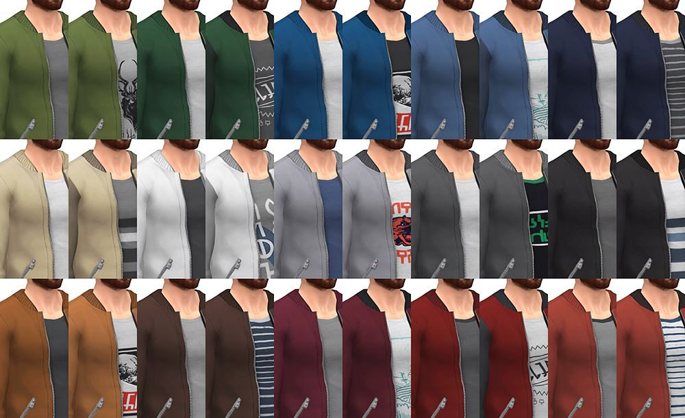 Bombers Jacket for the Sims 4 To be honest, I\u0027m not totally