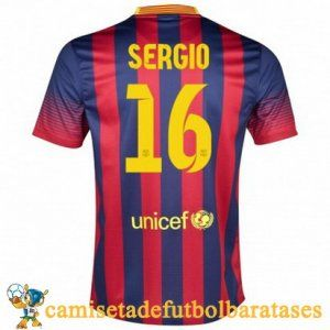 Camisetas Barcelona Sergio futbol casa 2013-2014 @ http://www.camisetadefutbolbaratases.com/la-liga-camiseta-barcelona-c-50_53.html