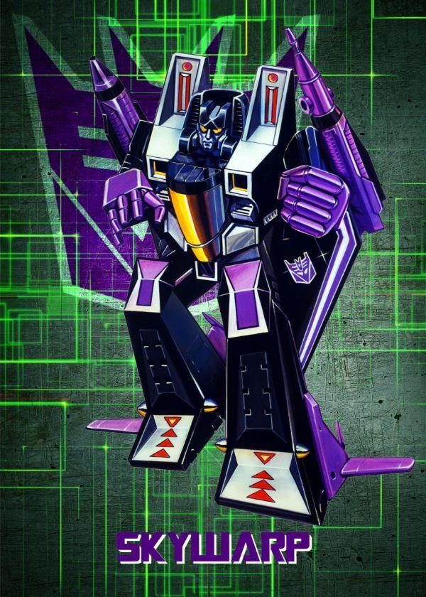 "Transformers G1 Decepticons Skywarp #Displate artwork by artist ""Wiebes"". Part of a set featuring… | Displate thumbnail"