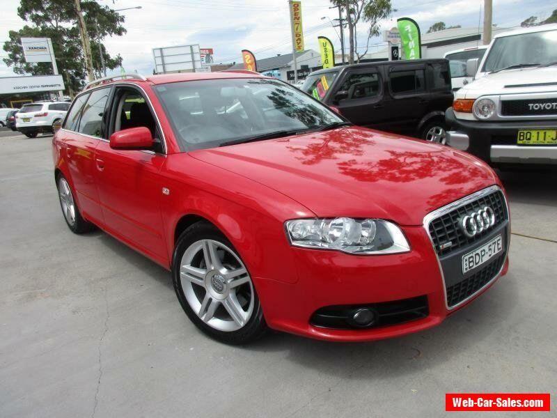 2007 Audi A4 B7 S Line Red Automatic A Wagon Audi A4 Forsale Australia