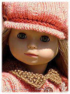 "18"" doll hat pattern  free PDF download  knitting"